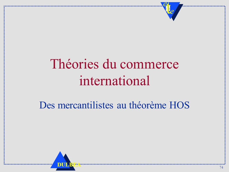 Théories du commerce international