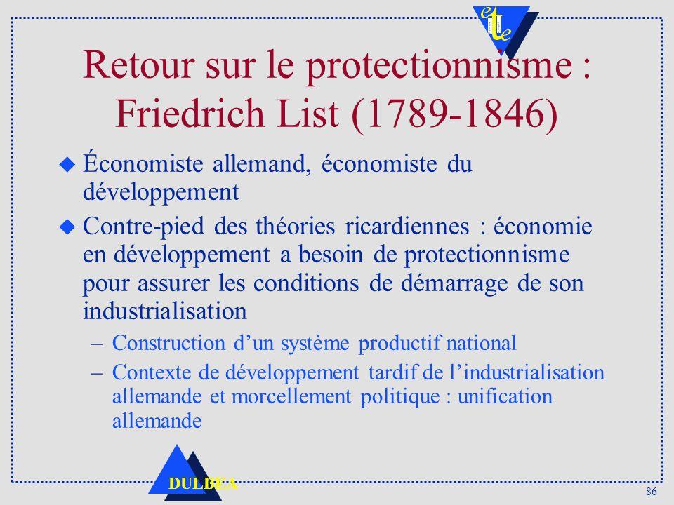 Retour sur le protectionnisme : Friedrich List (1789-1846)