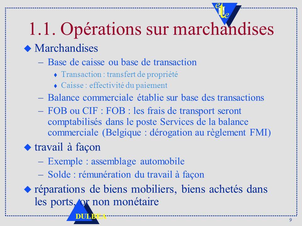 1.1. Opérations sur marchandises