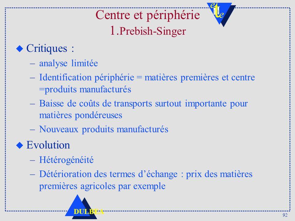 Centre et périphérie 1.Prebish-Singer