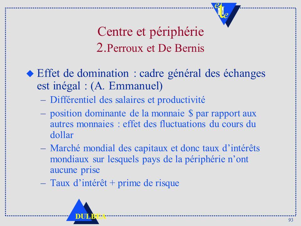 Centre et périphérie 2.Perroux et De Bernis