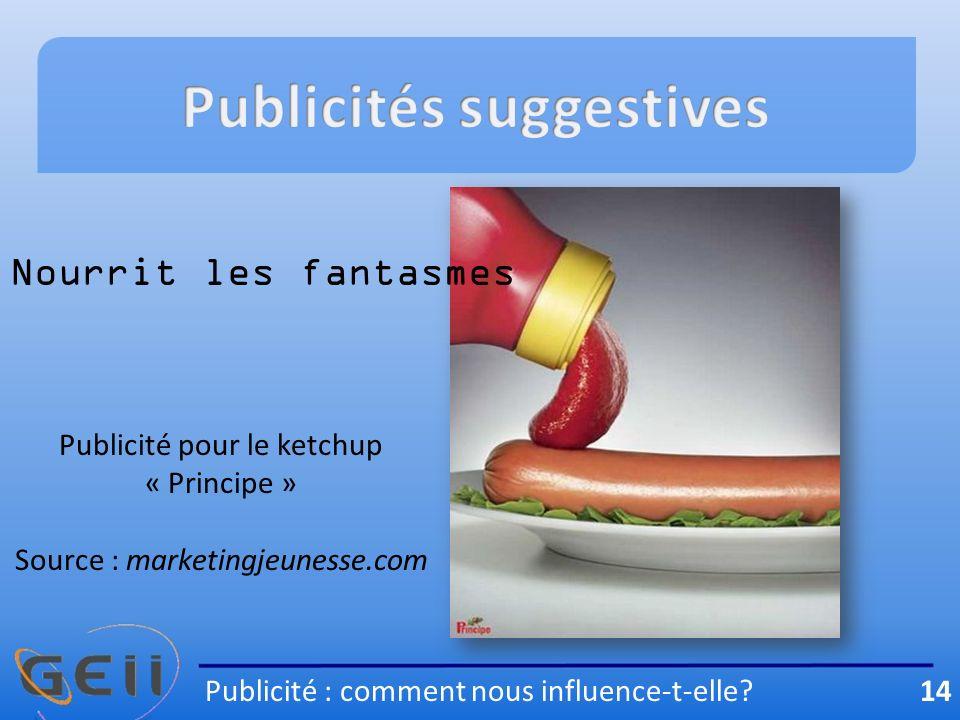 Publicités suggestives