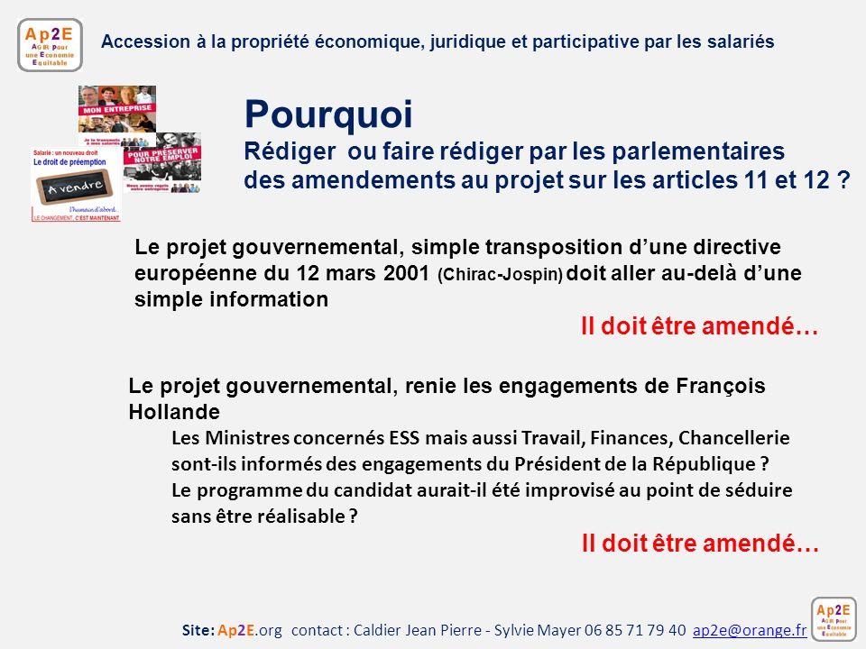 Accession à la propriété économique, juridique et participative par les salariés
