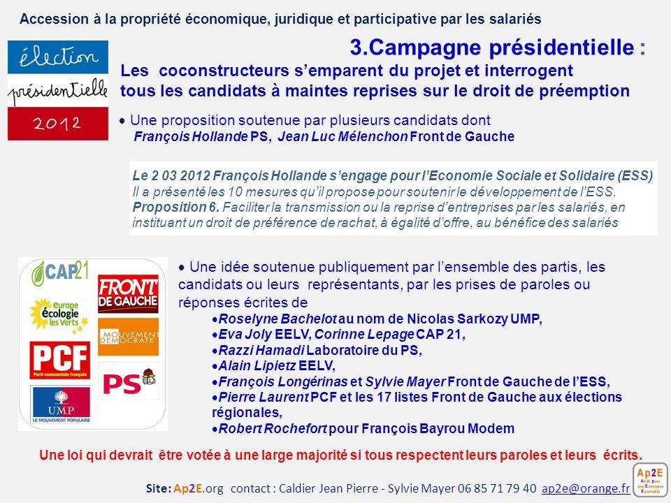3.Campagne présidentielle :