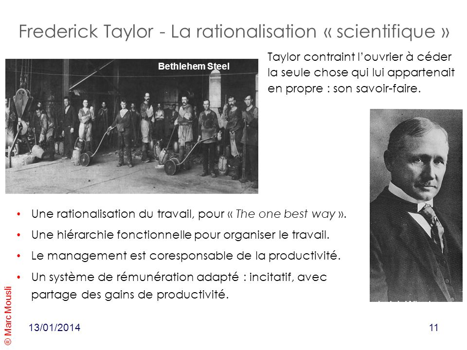 Frederick Taylor - La rationalisation « scientifique »