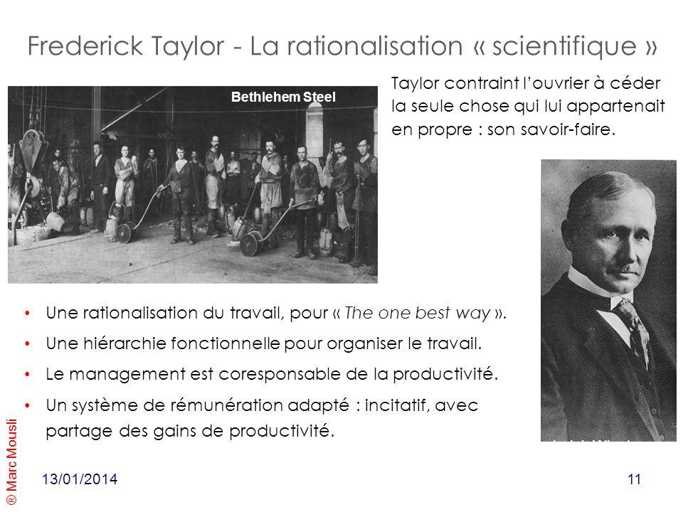 Frederick Taylor - La rationalisation « scientifique »