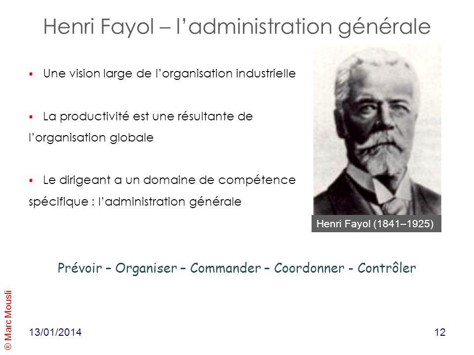 Henri Fayol – l'administration générale