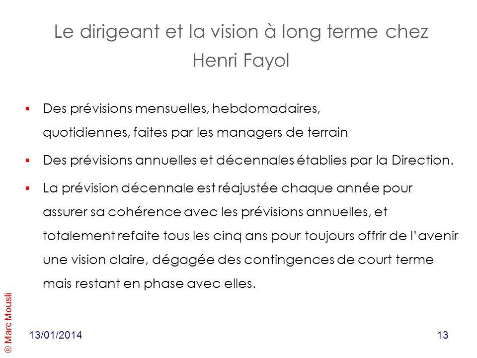 Le dirigeant et la vision à long terme chez Henri Fayol