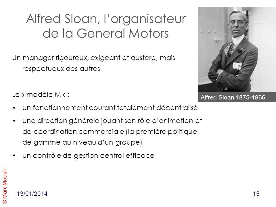 Alfred Sloan, l'organisateur de la General Motors