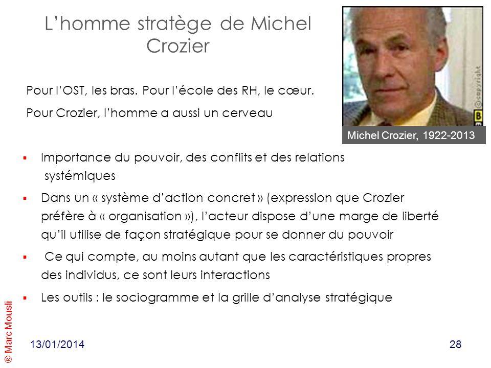 L'homme stratège de Michel Crozier