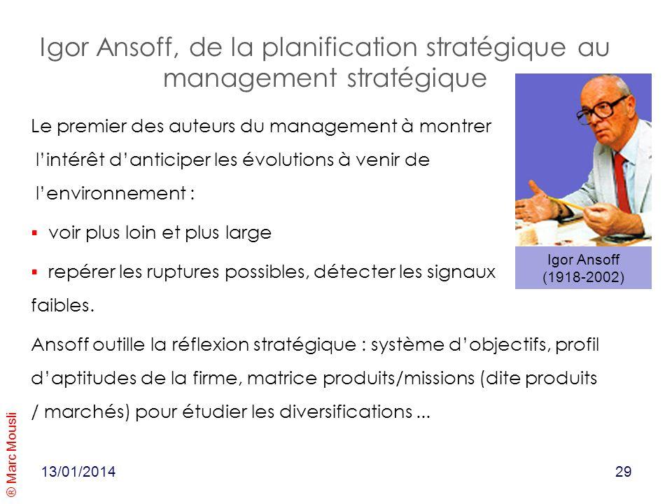 Igor Ansoff, de la planification stratégique au management stratégique