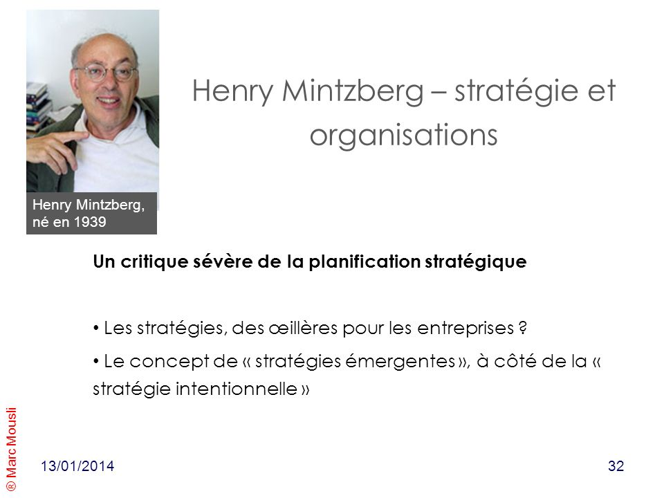 Henry Mintzberg – stratégie et organisations