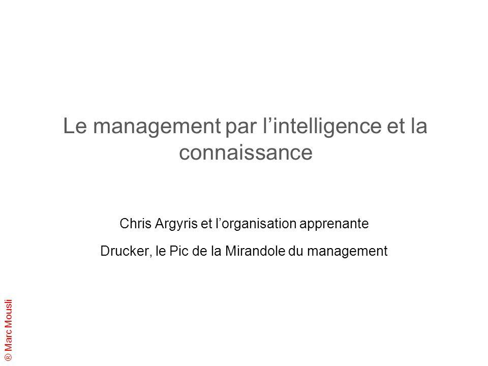 Le management par l'intelligence et la connaissance