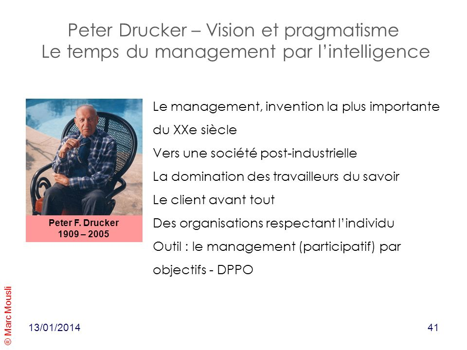 Peter Drucker – Vision et pragmatisme Le temps du management par l'intelligence