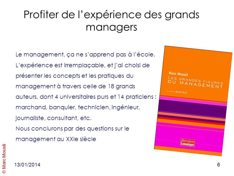 Profiter de l'expérience des grands managers
