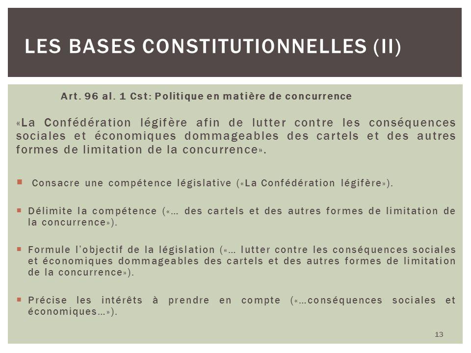 Les bases constitutionnelles (II)
