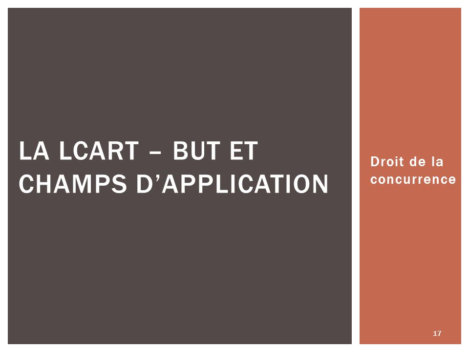 La LCart – But et champs d'application