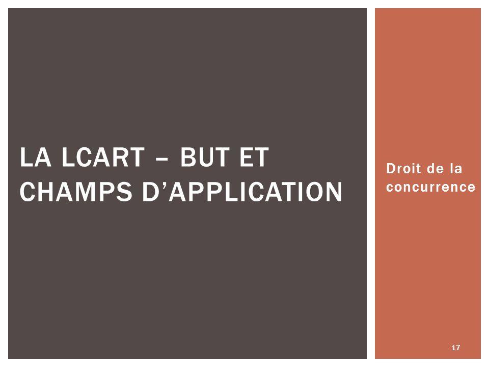 La LCart – But et champs d'application