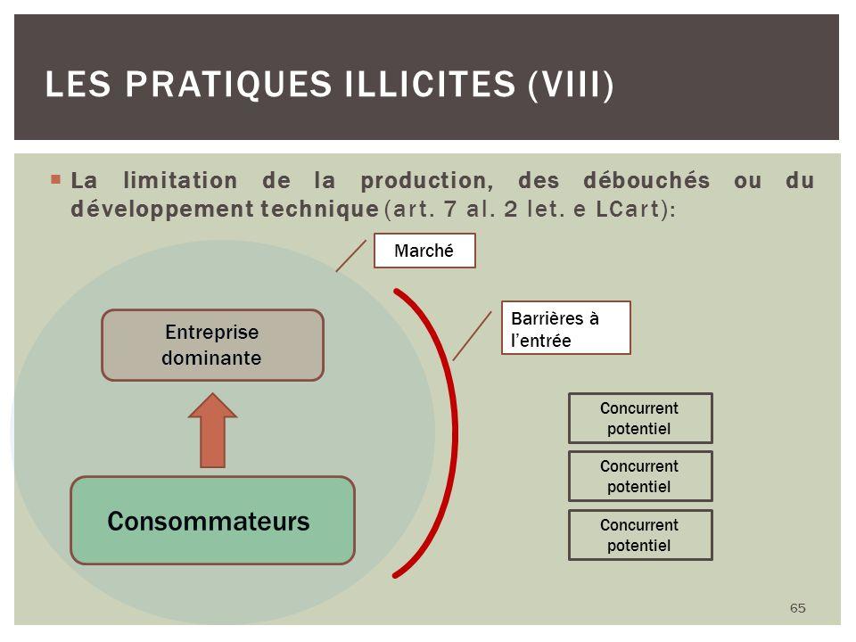 Les pratiques illicites (VIII)