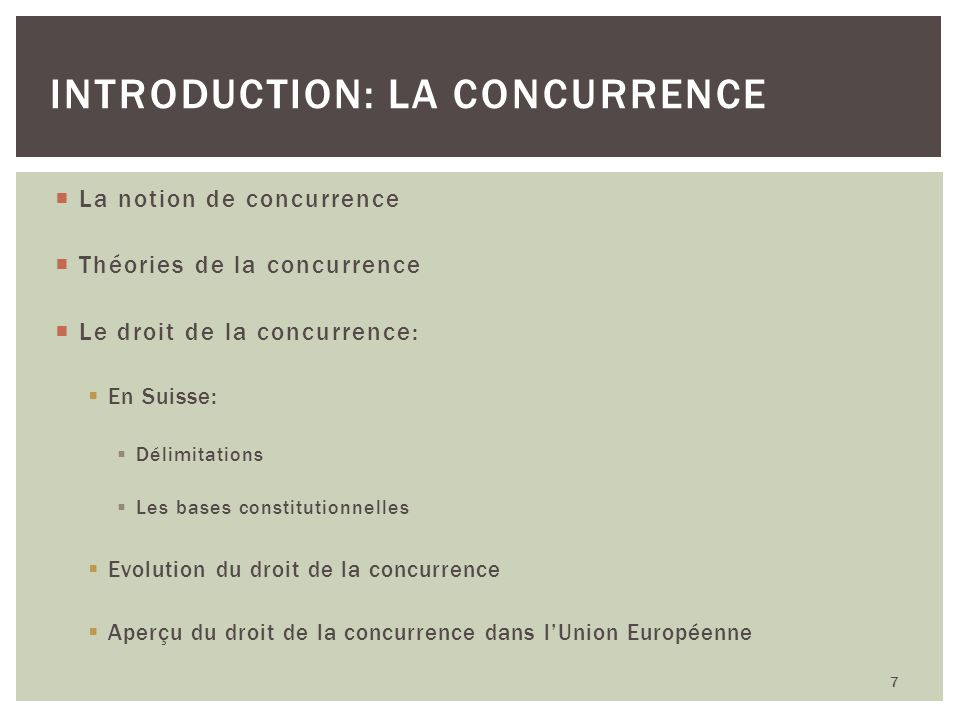 Introduction: La concurrence