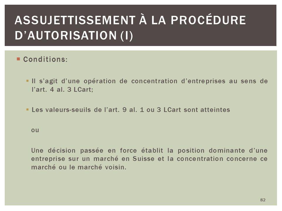 Assujettissement à la procédure d'autorisation (I)