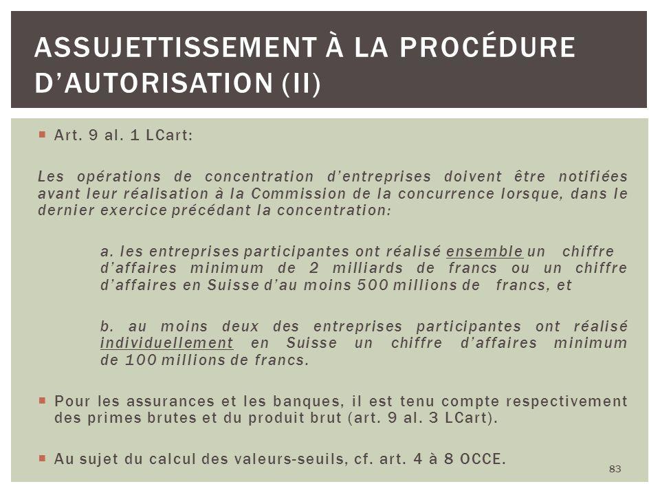 Assujettissement à la procédure d'autorisation (II)