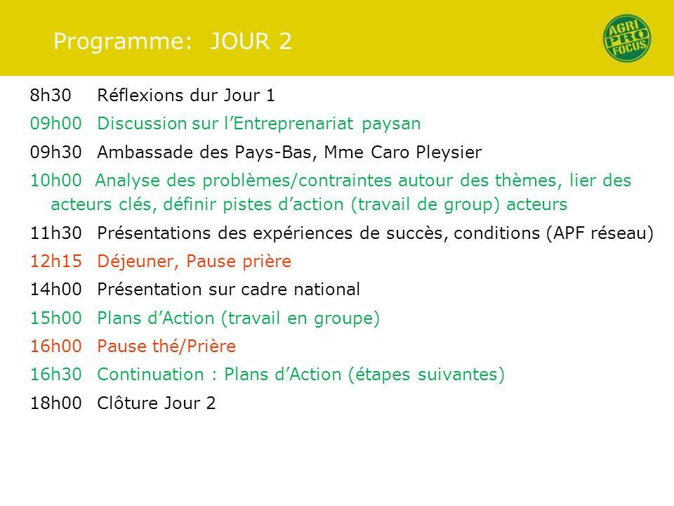 Programme: JOUR 2