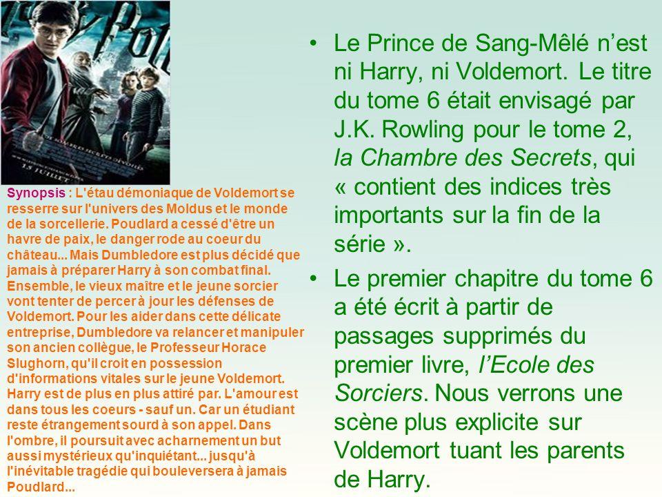Le Prince de Sang-Mêlé n'est ni Harry, ni Voldemort