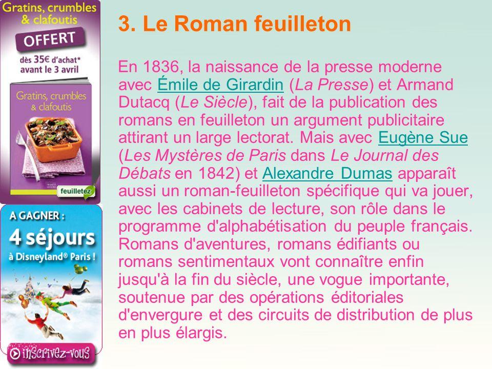 3. Le Roman feuilleton
