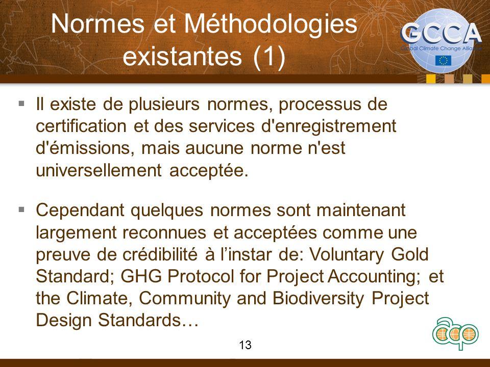 Normes et Méthodologies existantes (1)