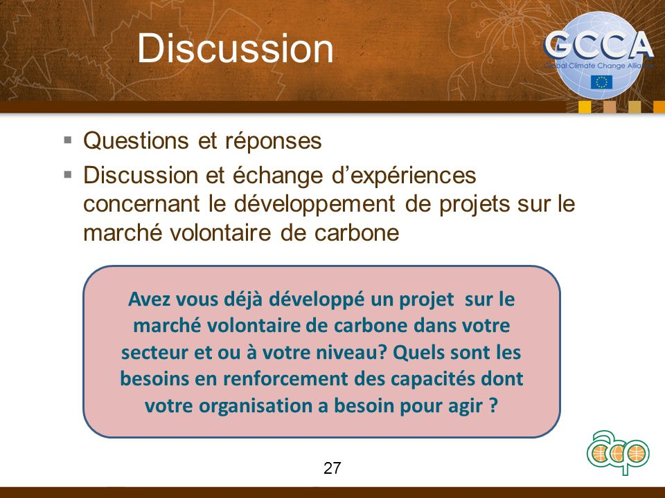 Discussion Questions et réponses
