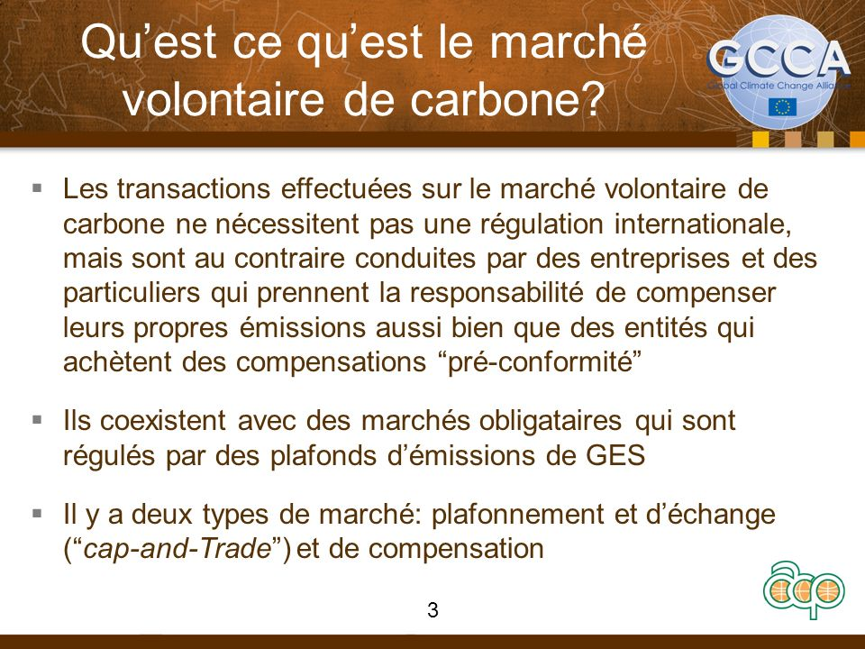 Qu'est ce qu'est le marché volontaire de carbone