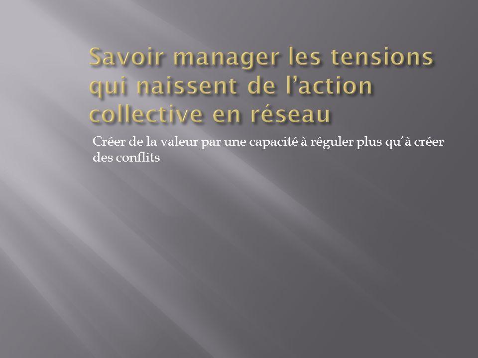 Savoir manager les tensions qui naissent de l'action collective en réseau