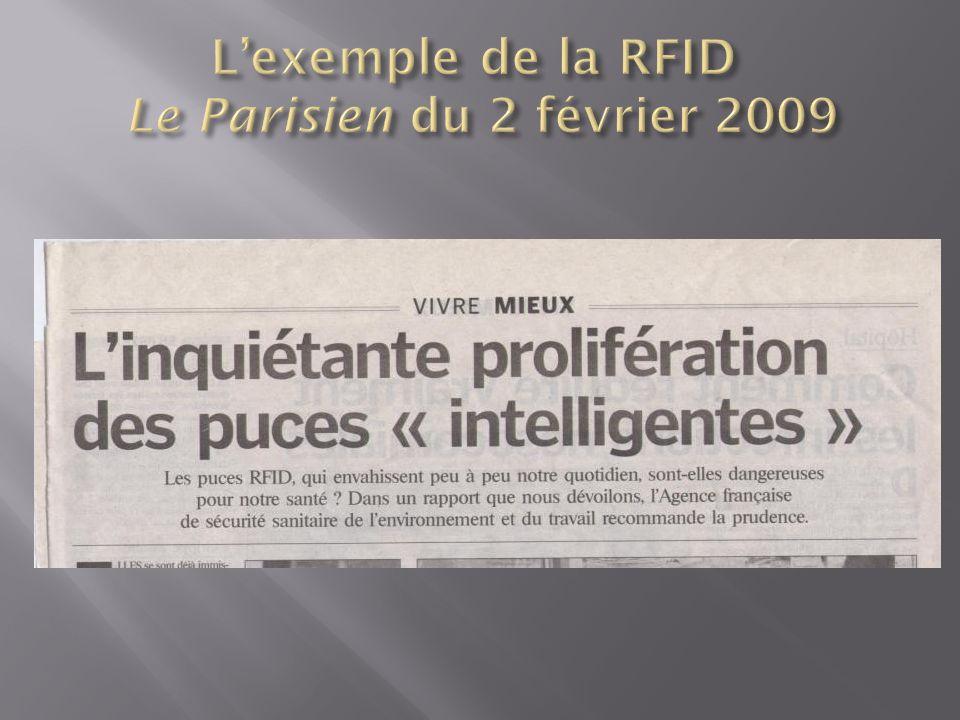 L'exemple de la RFID Le Parisien du 2 février 2009