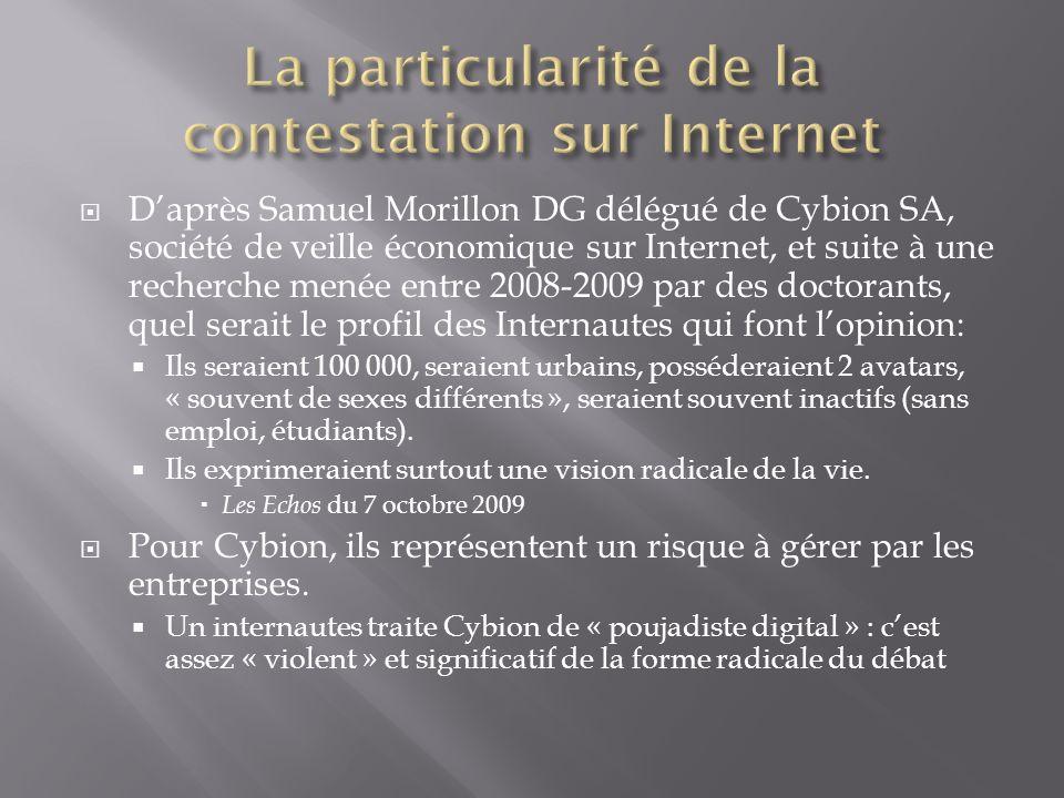 La particularité de la contestation sur Internet