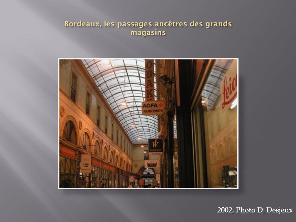 Bordeaux, les passages ancêtres des grands magasins