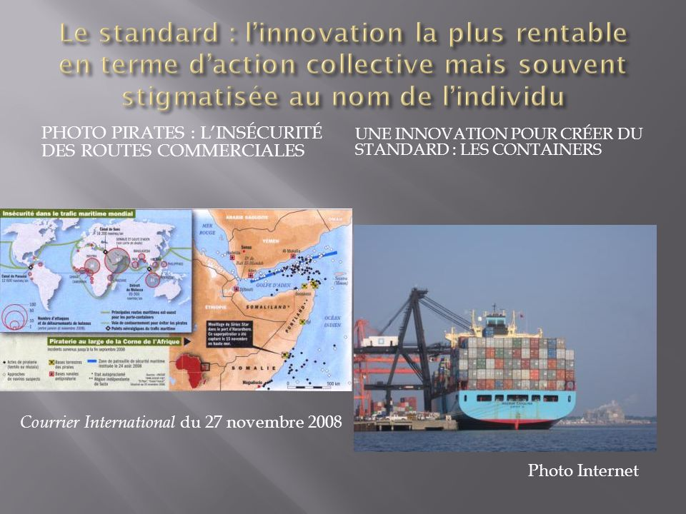 Le standard : l'innovation la plus rentable en terme d'action collective mais souvent stigmatisée au nom de l'individu