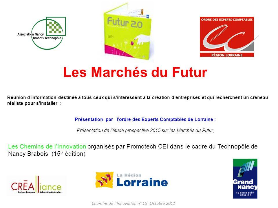 Les Marchés du Futur Réunion d'information destinée à tous ceux qui s'intéressent à la création d'entreprises et qui recherchent un créneau.