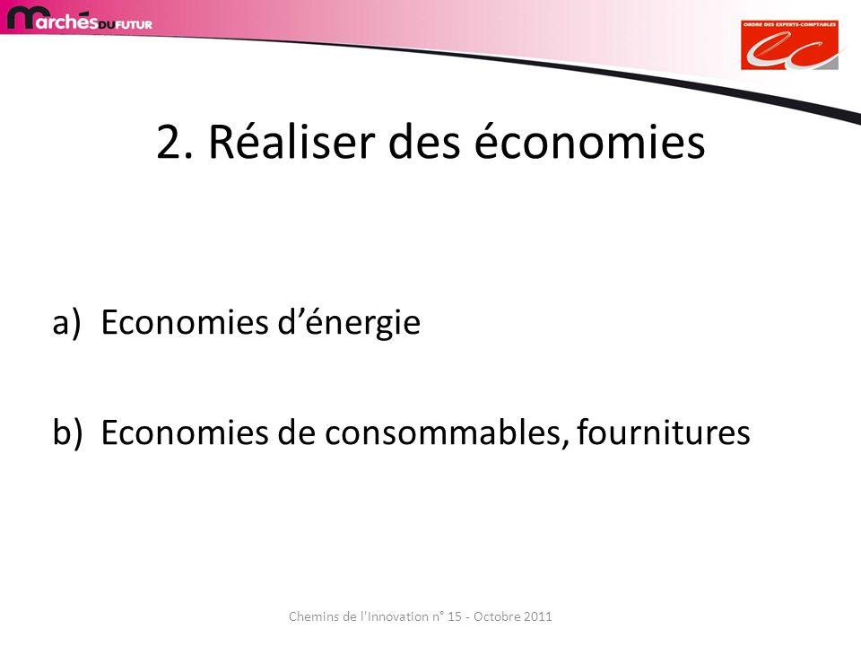 2. Réaliser des économies