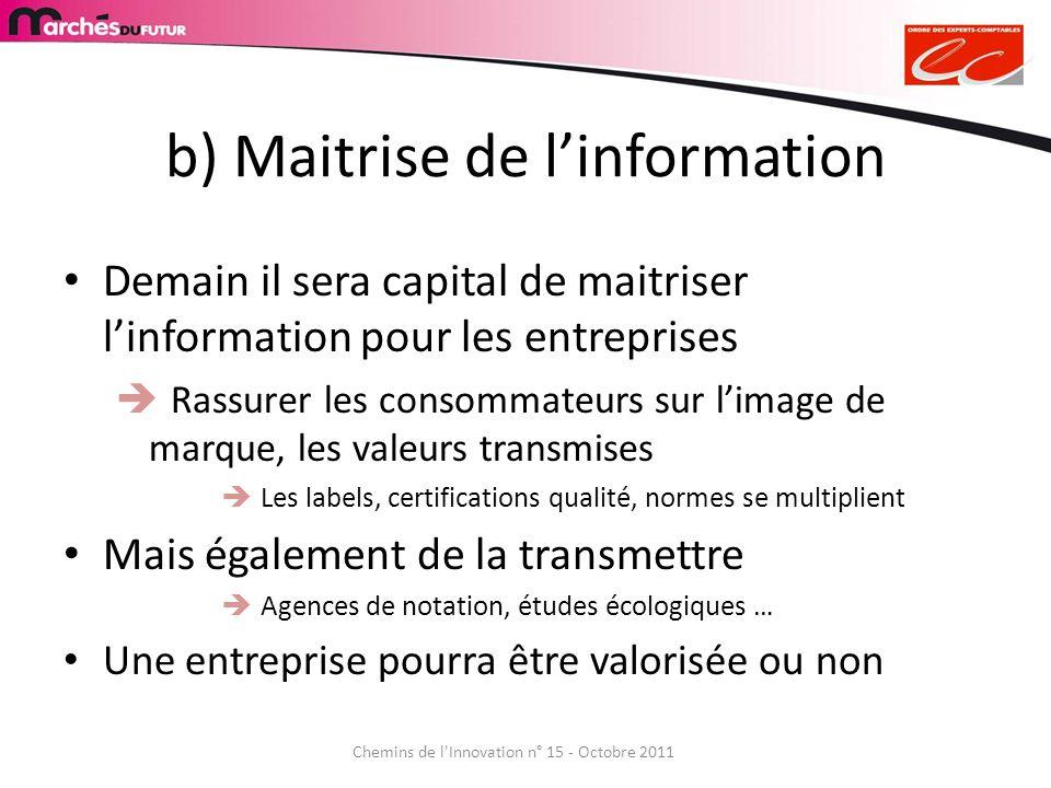 b) Maitrise de l'information