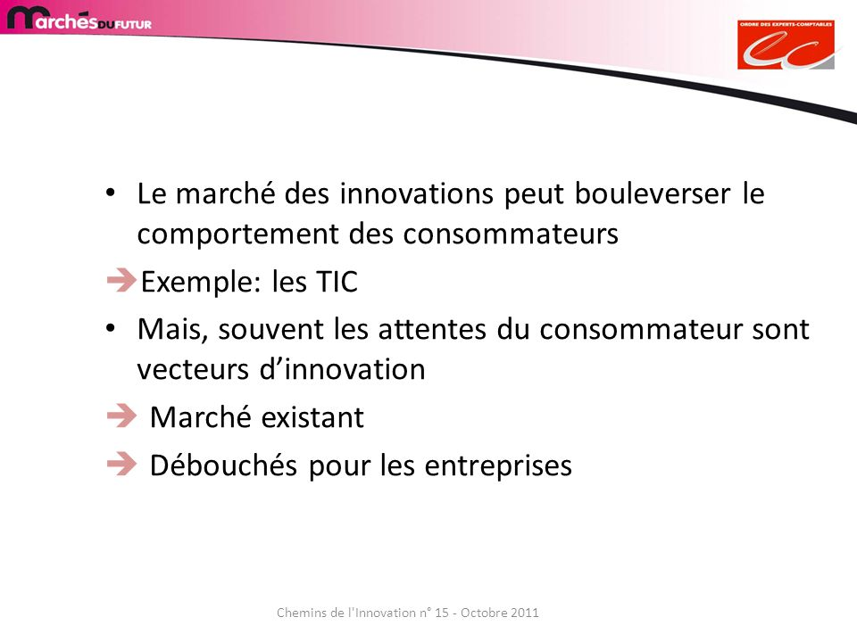 Chemins de l Innovation n° 15 - Octobre 2011