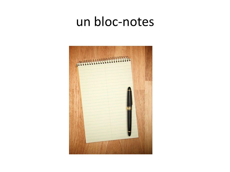 un bloc-notes