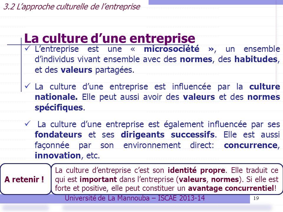 La culture d'une entreprise