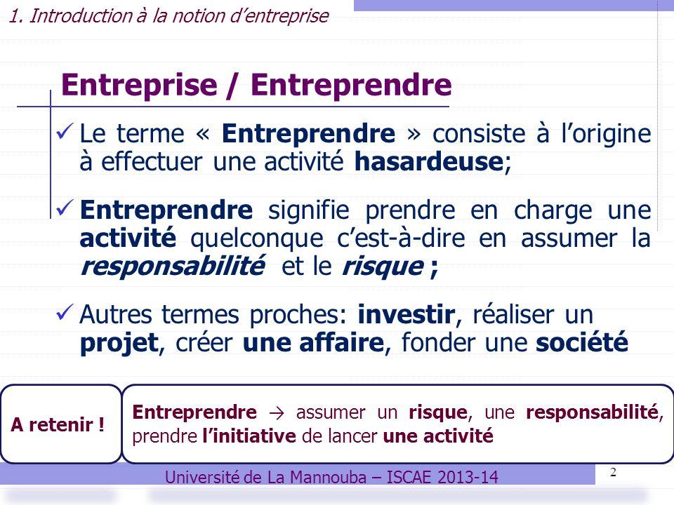 Entreprise / Entreprendre