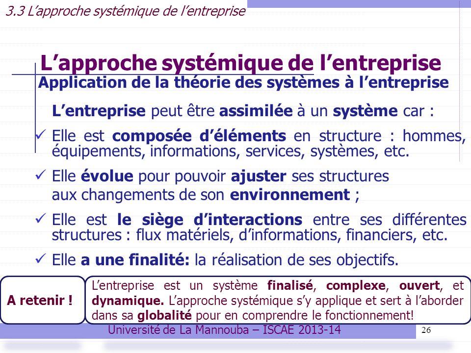 L'approche systémique de l'entreprise