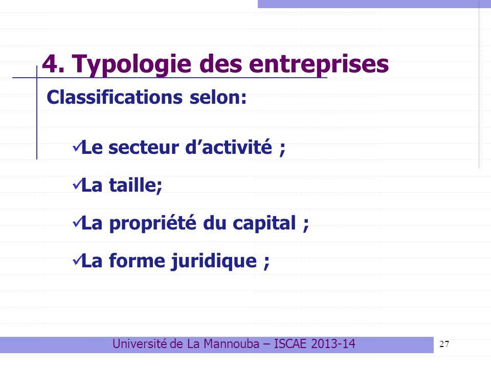 4. Typologie des entreprises