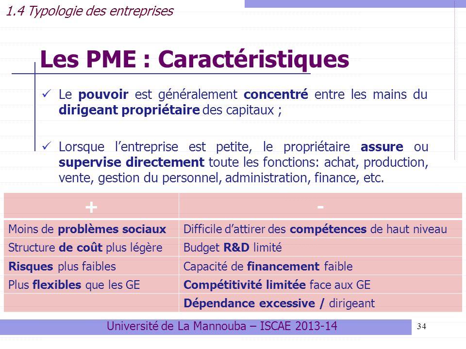 Les PME : Caractéristiques