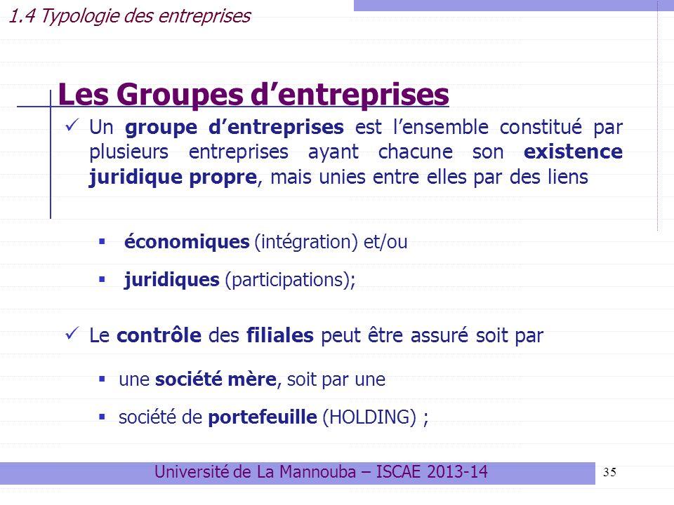 Les Groupes d'entreprises