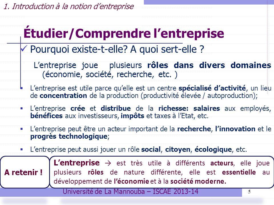 Étudier/Comprendre l'entreprise