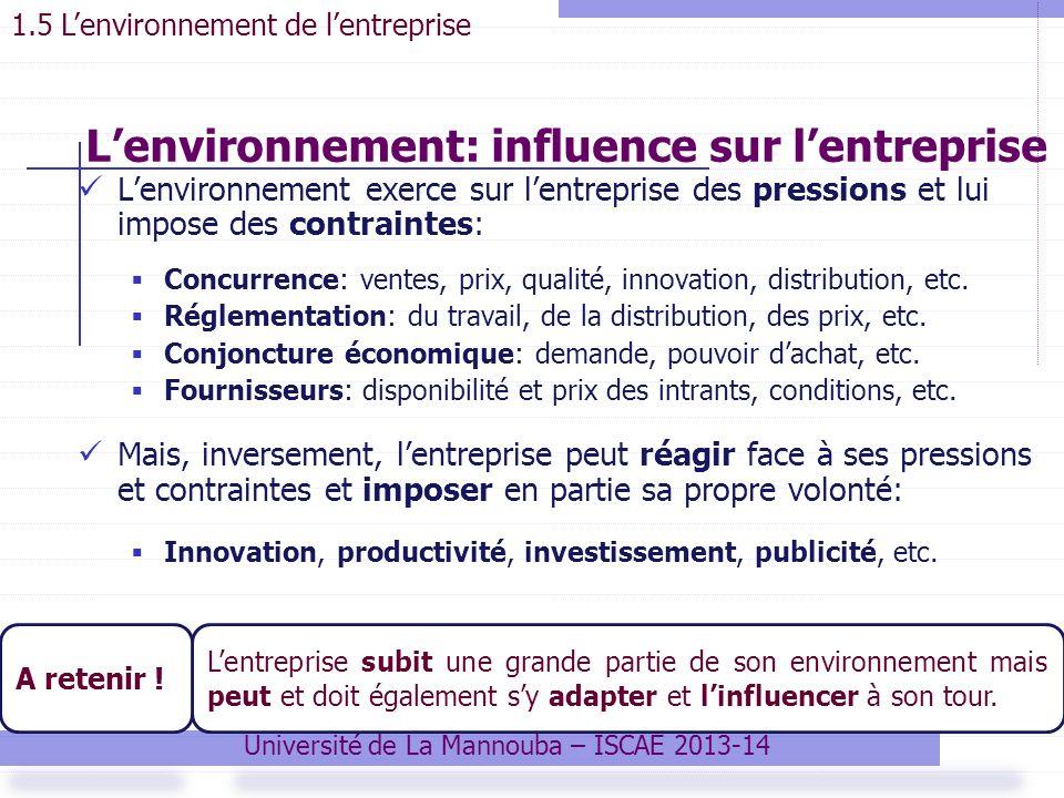 L'environnement: influence sur l'entreprise